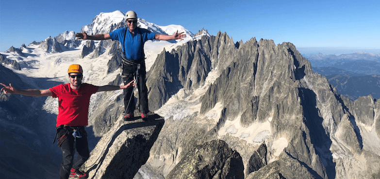 Mountain climbing after hip replacement